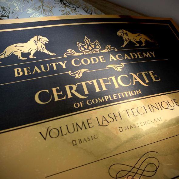 Сертификат на затен огледален картон